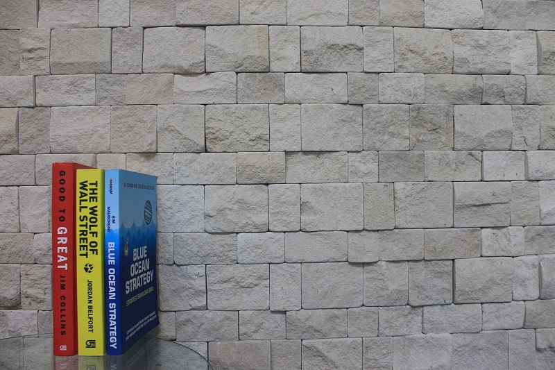 Bali White Classic Limestone Wall Cladding Tumbled Application