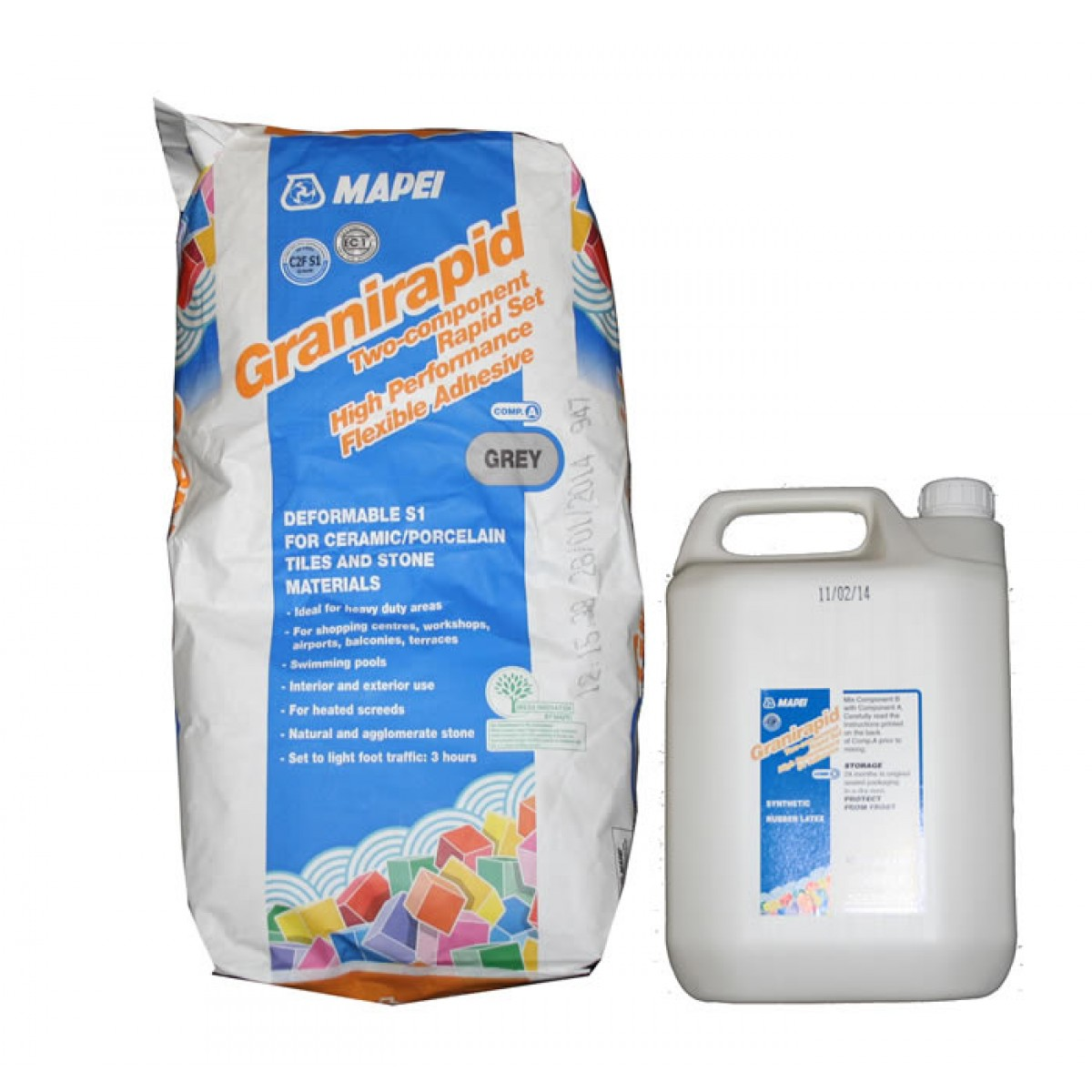 Mortar-Mapei-Granirapid-Grey