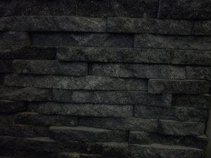 black lavastone cladding