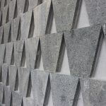 basalt cladding - trapezoid pattern